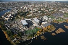aerial photography seattle UW