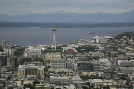 aerial photography seattle spaceneedle