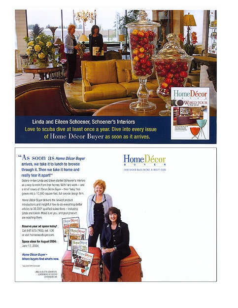 Home Décor Buyer Direct Mail Card Location Photography