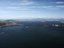 Golden Gate Bridge -- Looking Into San Francisco Bay,