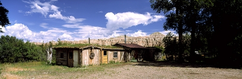 Wyoming Historic Grass-roofed Log Cabin