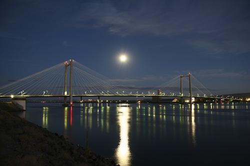 The Ed Hendler Cable Bridge Nightscape