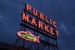 Neon Marquee - Pike Place Market, Seattle, WA