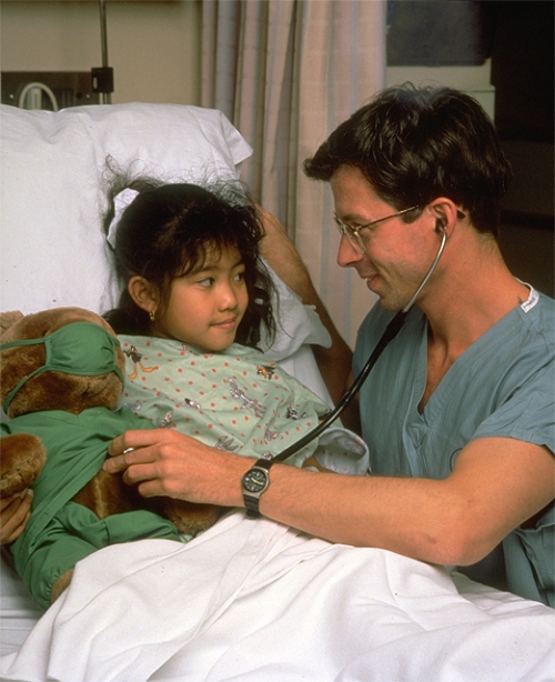 Pediatrician and Young Girl