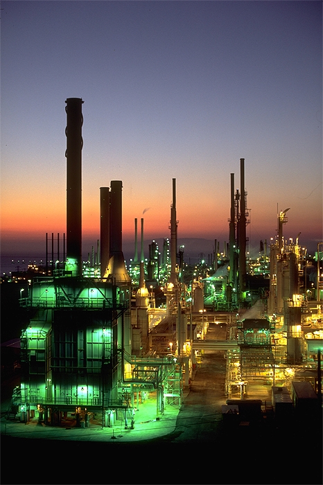 Oil Refinery at Dusk, San Rafael, CA