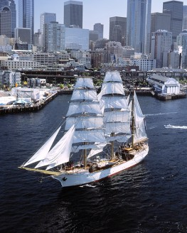 Tall Ship on the Seattle WA Waterfront