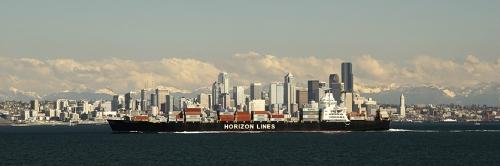 Container Ship on Elliott Bay