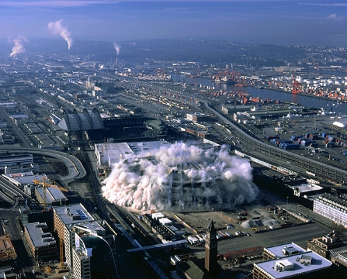 Implosion of the Seattle Kingdome