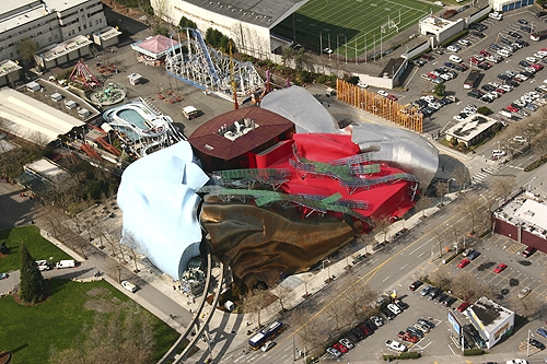 Aerial Photograph of the Experience Music Project