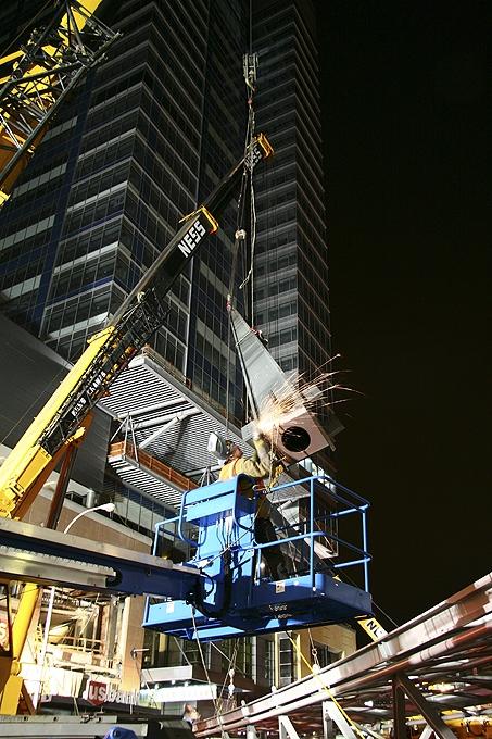Welding a Skybridge Support Beam