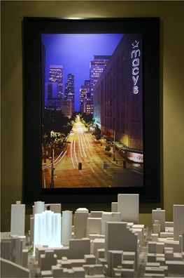 Evening Cityscape Mural Display