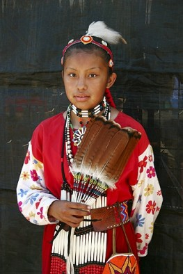 Teen Native American  Girl in Her Regalia