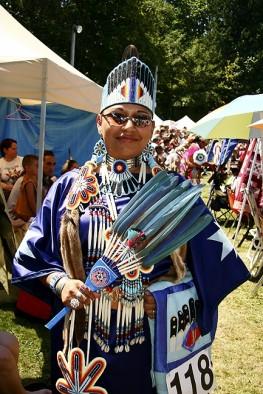 Native American Woman in Her Regalia