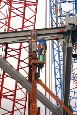 Ironworker on a Construction Site