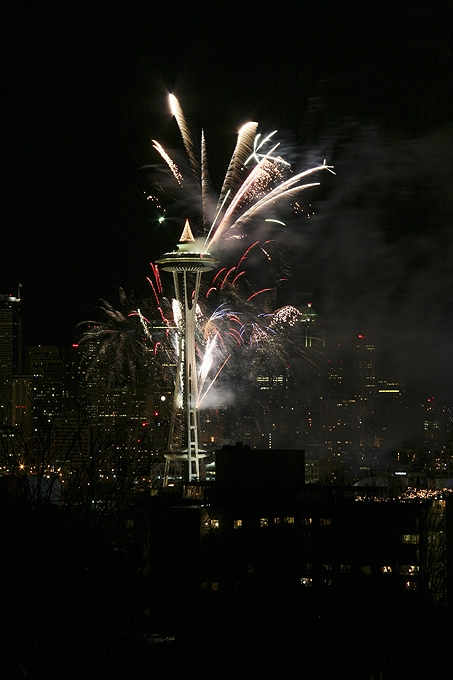 2008 New Year's Eve Fireworks at the Space Needle