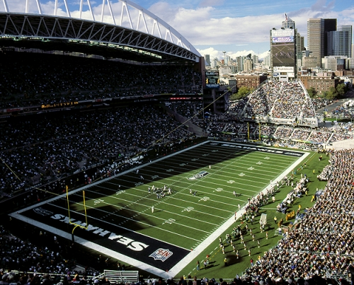 Qwest Field during a Seattle Seahawks Football Game