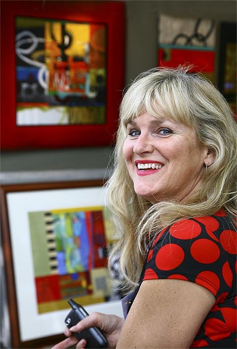 Abstract Artist Janet O'Neal of Santa Fe, NM