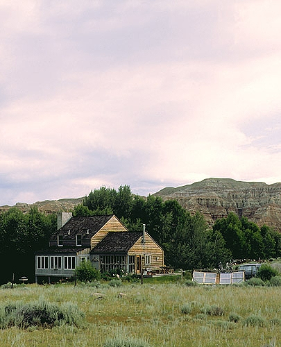 Evening at Jakey's Fork B & B, Dubois, Wyoming