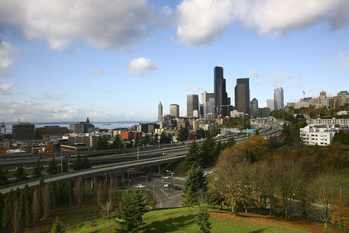 View of Seattle WA from Beacon Hill