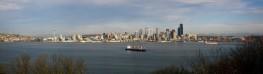 Seattle WA Panorama from West Seattle