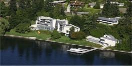 Aerial of a Residence on Lake Washington