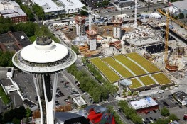 Seattle Center Parking Garage & the Space Needle