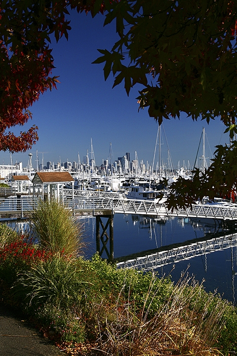 Magnolia Marina with Seattle WA in the background