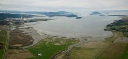 6-Photo Aerial Panorama of Padilla Bay, Skagit Co, WA