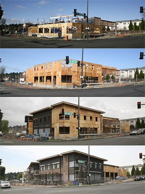 Construction Progress/HQ Fire Station, Kenmore, WA