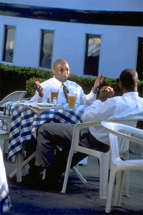 African – American Business Men at Lunch