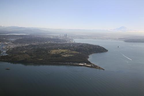 Seattle WA and Mt. Rainier