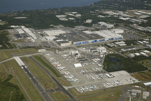 Boeing Aircraft Under Construction — Paine Field
