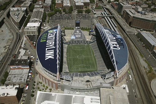 CenturyLink Field, in the Pioneer Square District