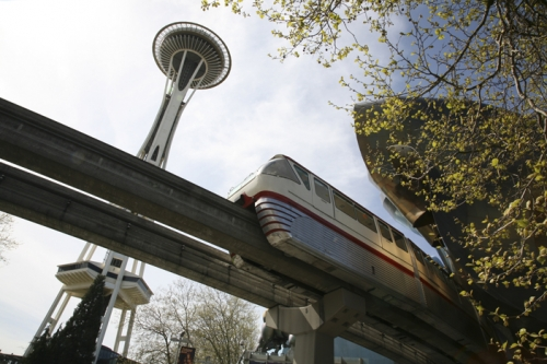 The Space Needle & the Seattle Monorail, Seattle, WA