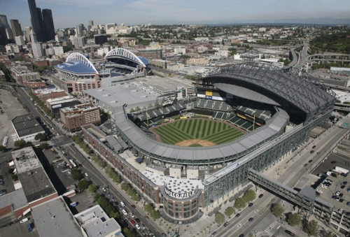 Safeco Field Mlb Stadium Amp Centurylink Stadium Aerial Photo