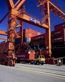 Unloading Containers - Port of Seattle WA