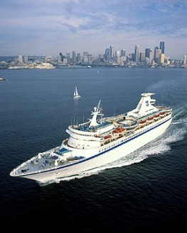Cruise Ship Departing Seattle WA