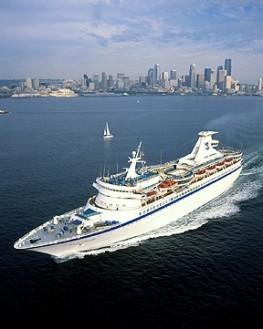 Cruise Ship Departing Seattle WA