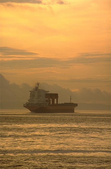 Freighter in Puget Sound WA