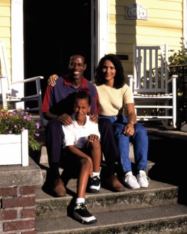 African-American Family on their Front Porch