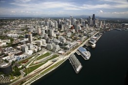 Aerial Photography Seattle Waterfront