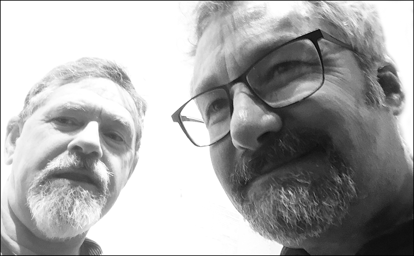 Self-portrait w/Dean Wenick #1